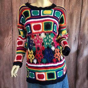 Paris Sport Club Hand Knitted Sweater Medium